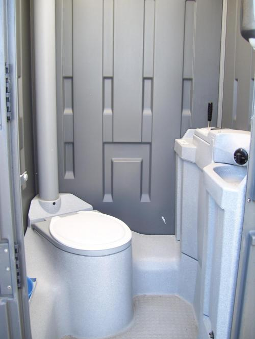 Smiths hire rental equipment specialists deluxe single for Deluxe portable bathrooms